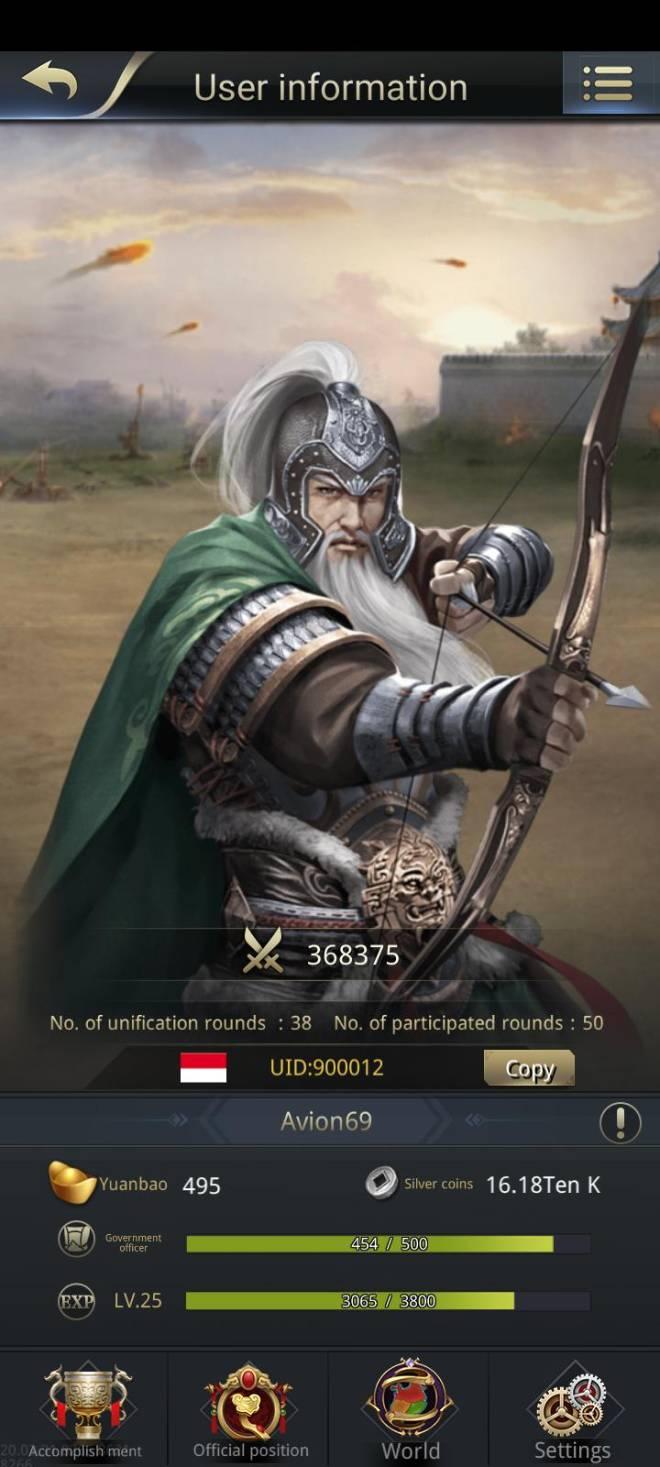 Three Kingdoms RESIZING: Limited General Board [Huang Zhong], END - CH9/900012/Avion69 image 1