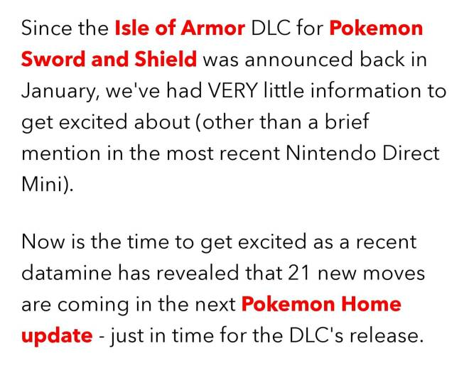 Pokemon: General - Isle of Armor Info #1: 21 NEW Moves??? image 2