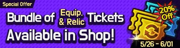 60 Seconds Hero: Idle RPG: Events - [Special Offer] Bundle of Equipment & Relic Summon Tickets in Shop! 3/03 – 3/09 (UTC-7) image 3