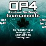 OP4 tournaments **PS4 ONLY**