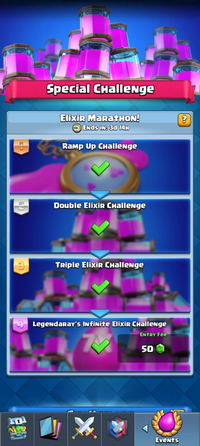 Clash Royale: Recruiting - Did u complete the elixir marathon without the gold pass......without gems tooooo.. image 1