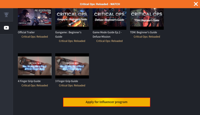 ENG Critical Ops: Reloaded: Announcements - Introducing Influencer Partnership Program image 8