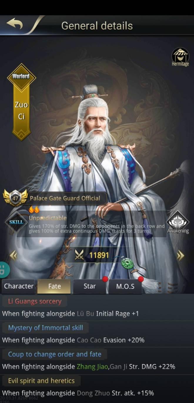 Three Kingdoms RESIZING: Q&A - Fate counting Zuo Ci & Zhang Jiao image 3