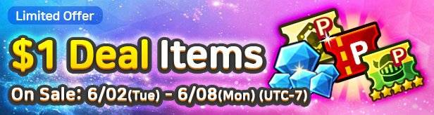 60 Seconds Hero: Idle RPG: Events - [Limited Offer] $1 Deal items 6/02(Tue) – 6/08(Mon) image 1