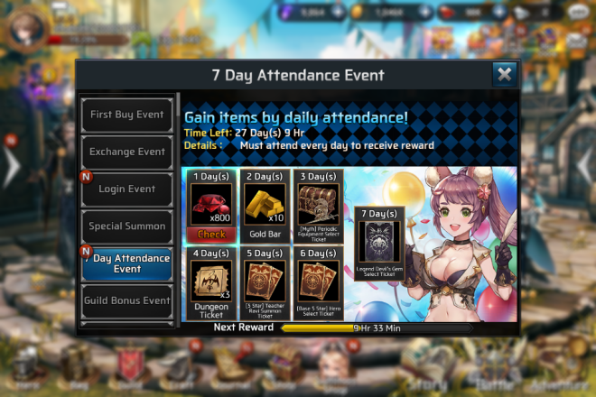 Ceres M: ★ events - 7 Day Attendance Event!  image 2
