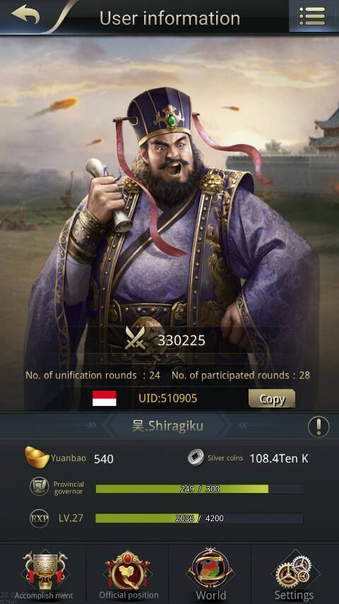 Three Kingdoms RESIZING: Limited General Board [Dong Zhuo], END - 吴.Shiragiku / 510905 / Hello! image 1