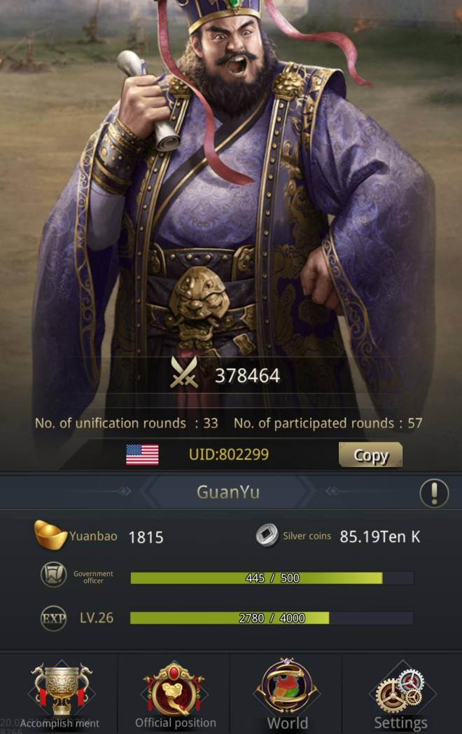 Three Kingdoms RESIZING: Limited General Board [Dong Zhou], END - GuanYu/802299/ Hello my lord image 1