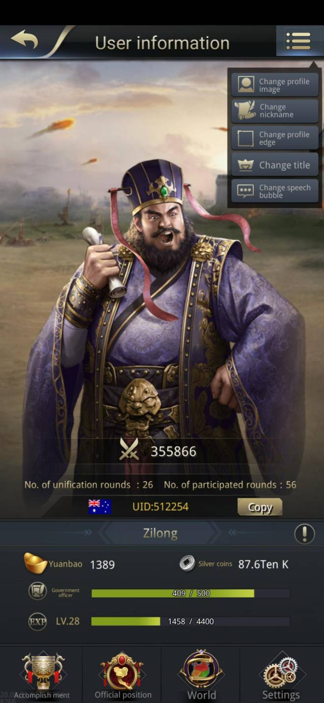 Three Kingdoms RESIZING: Limited General Board [Dong Zhuo], END - Zilong/512254/Channel 5 image 2