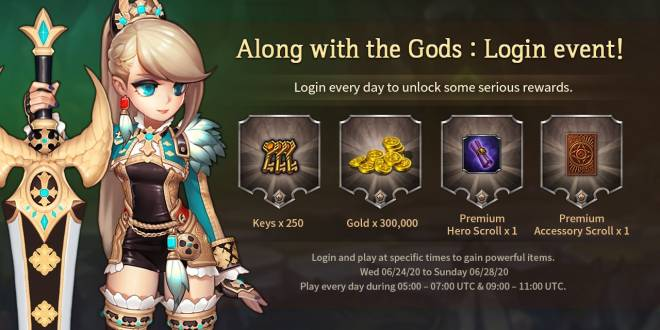 Along with the Gods: Knights of the Dawn: Events - Advanced Adventure - Daily login event! image 3