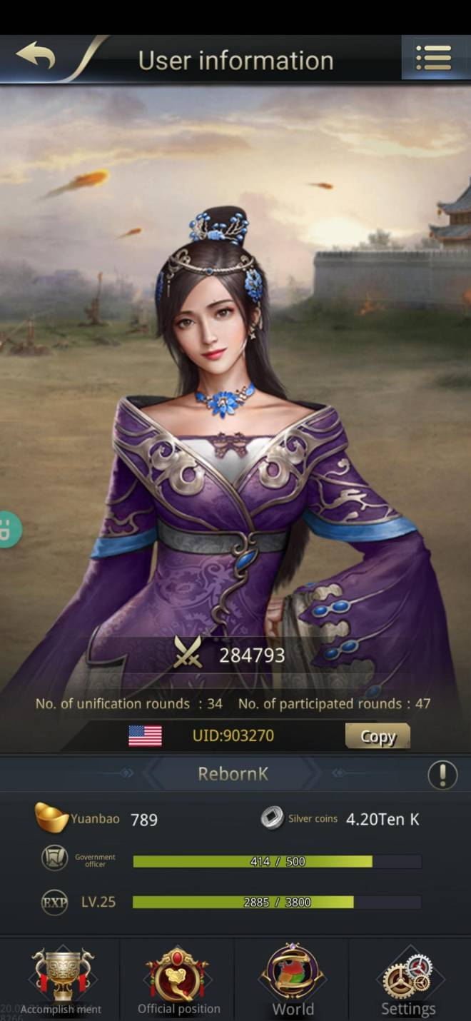 Three Kingdoms RESIZING: Limited General Board [Lady Zhen], END - RebornK/channel 09/903270 image 1