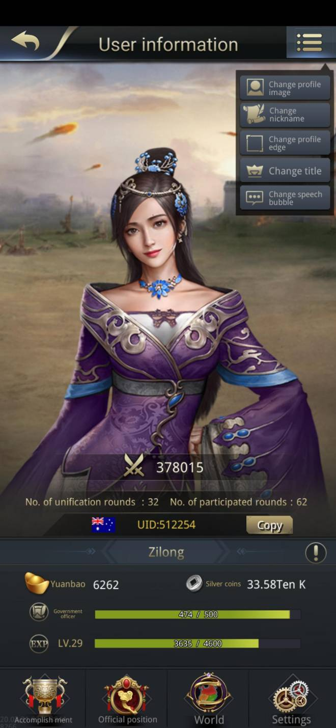 Three Kingdoms RESIZING: Limited General Board [Lady Zhen], END - Zilong/512254/channel 5 image 2