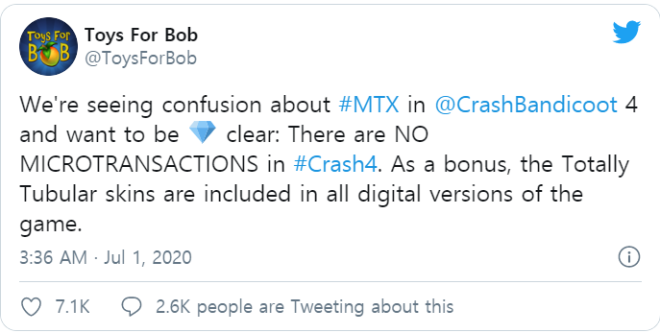 Off Topic: General - Crash Bandicoot 4 Will Not Have Microtransactions image 2