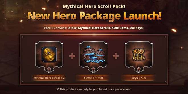 Along with the Gods: Knights of the Dawn: Open Forum - New Mythical Hero Scroll Pack for Sale! image 1