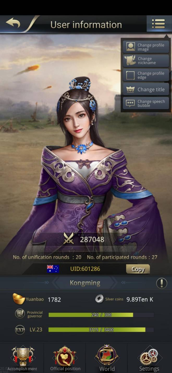 Three Kingdoms RESIZING: Limited General Board [Lady Zhen], END - Kongming/601286/Channel 5 image 1