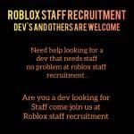 Roblox Staff Recruitment