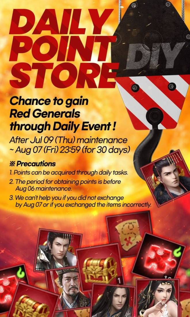 Three Kingdoms RESIZING: Event - [Event] Daily Point Store image 3