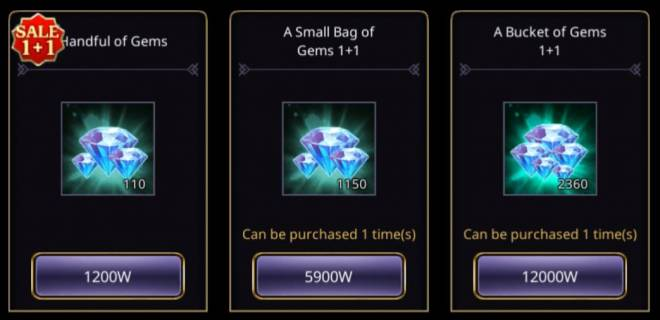 VERSUS : REALM WAR: In-Game Event - 'Gems 1+1' Unlimited Purchase Event! image 7