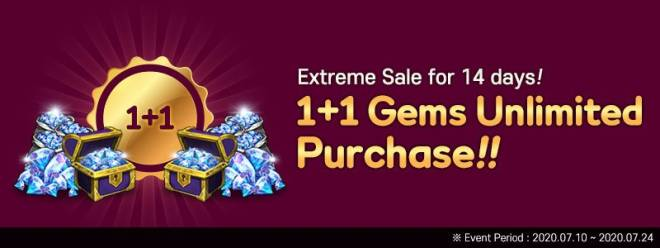 VERSUS : REALM WAR: In-Game Event - 'Gems 1+1' Unlimited Purchase Event! image 4