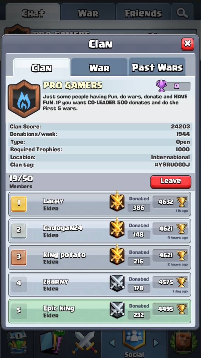 Clash Royale: Recruiting - Need more members image 2