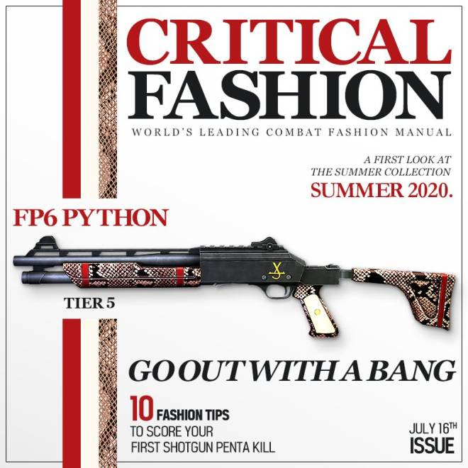 ENG Critical Ops: Reloaded: Announcements - [Skin Update #4] Critical Fashion & Python image 2