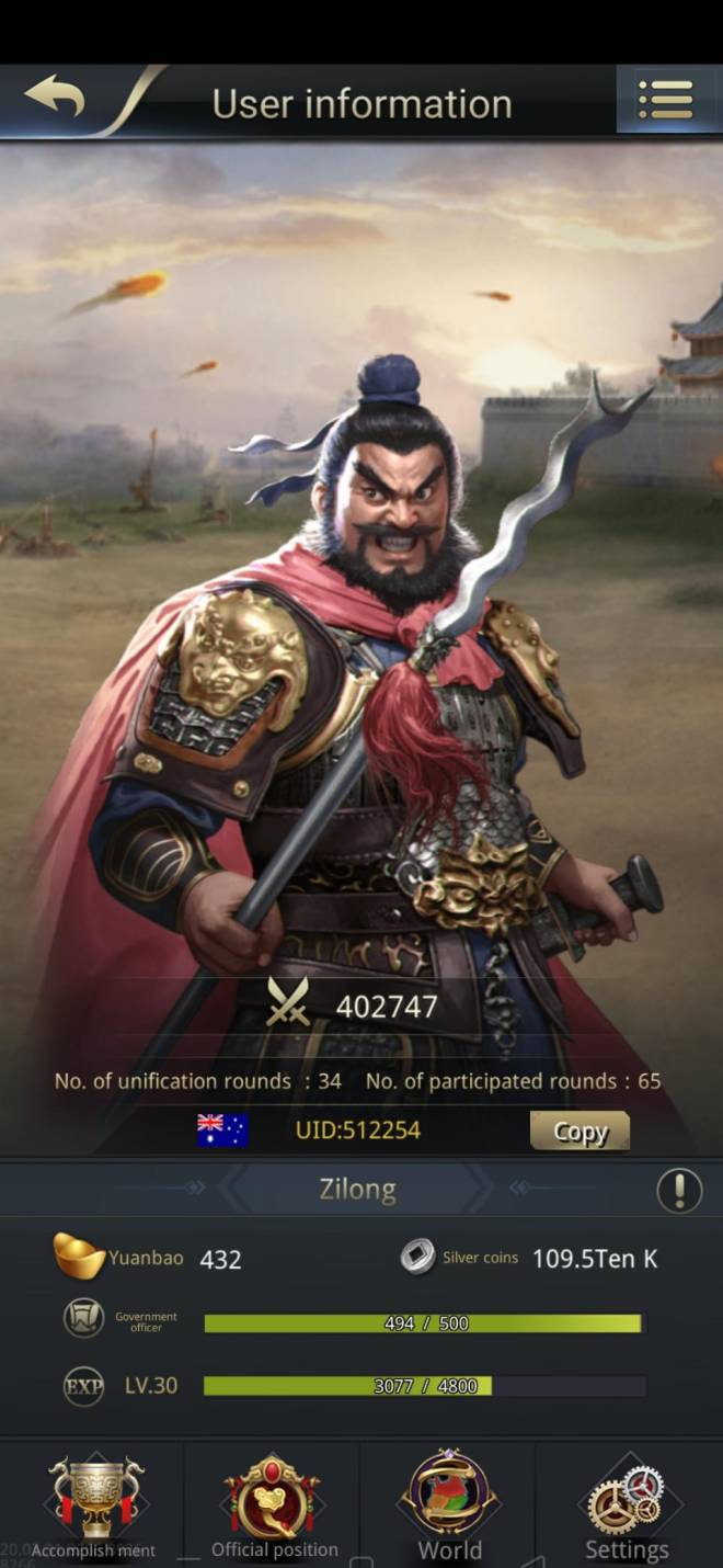 Three Kingdoms RESIZING: Limited General Board [Zhang Fei], END - Zilong/512245/Channel 5 image 1