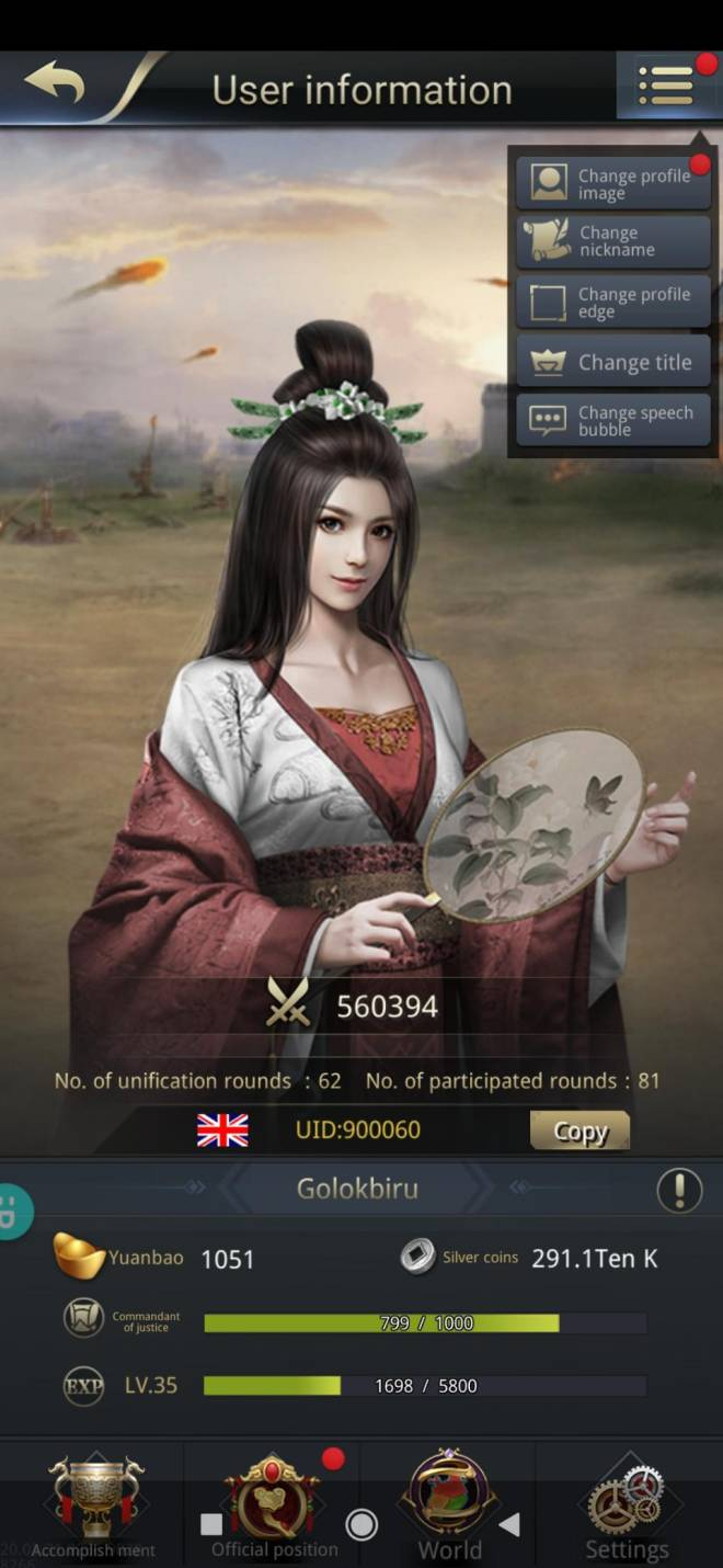 Three Kingdoms RESIZING: Limited General Board [Da Qiao], END - Golokbiru/900060/hai cantik image 2