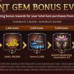 Giant gem Bonus event!