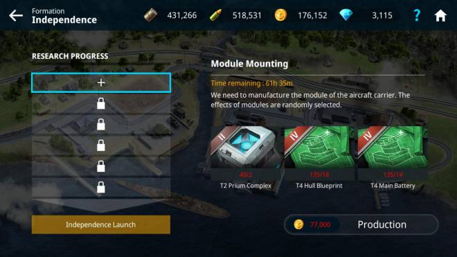 Warship Fleet Command: General - Grinding carriers for eternity image 2