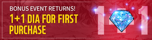 Lucid Adventure: ◆ Event - Bonus is Back! Diamonds 1+1 Event!  image 1