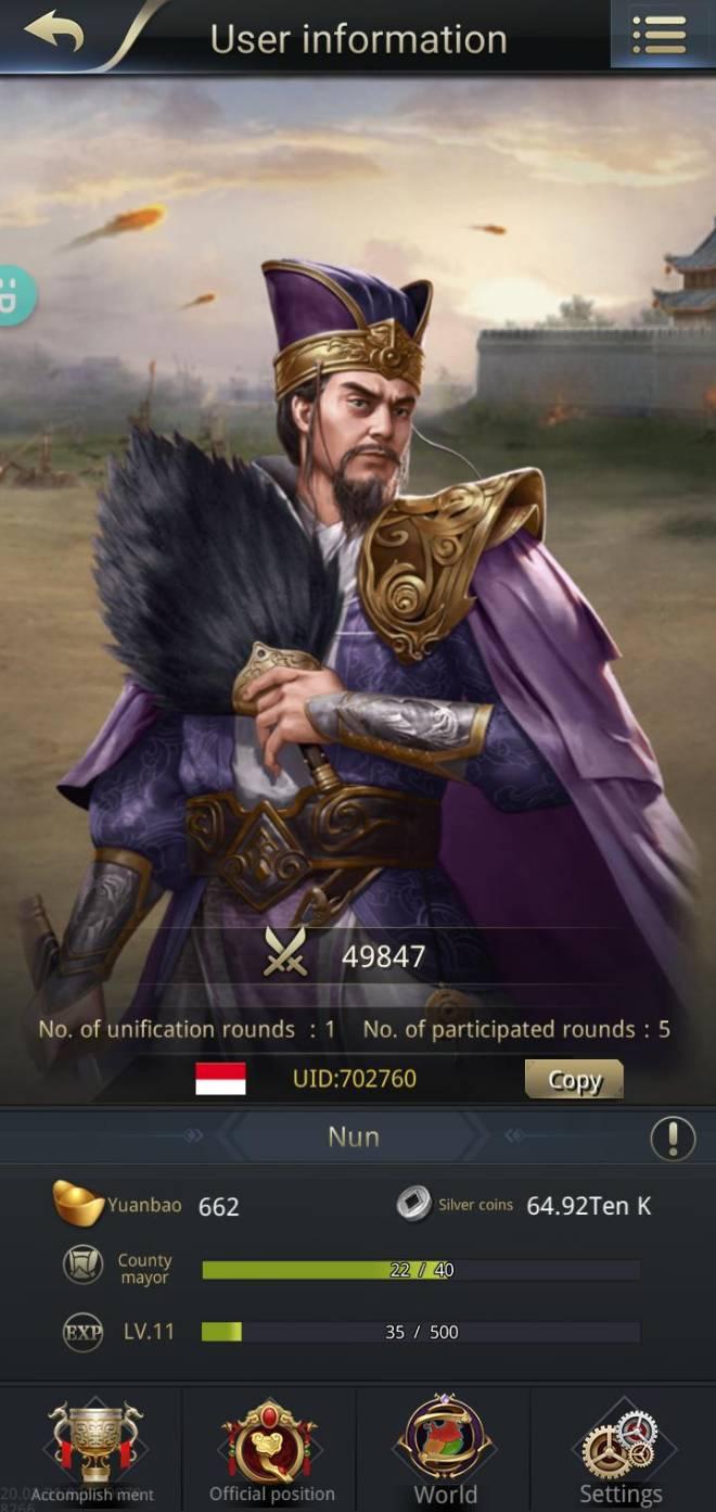 Three Kingdoms RESIZING: Join & Greeting Board - Game mantabb Sima Yi Joss image 2
