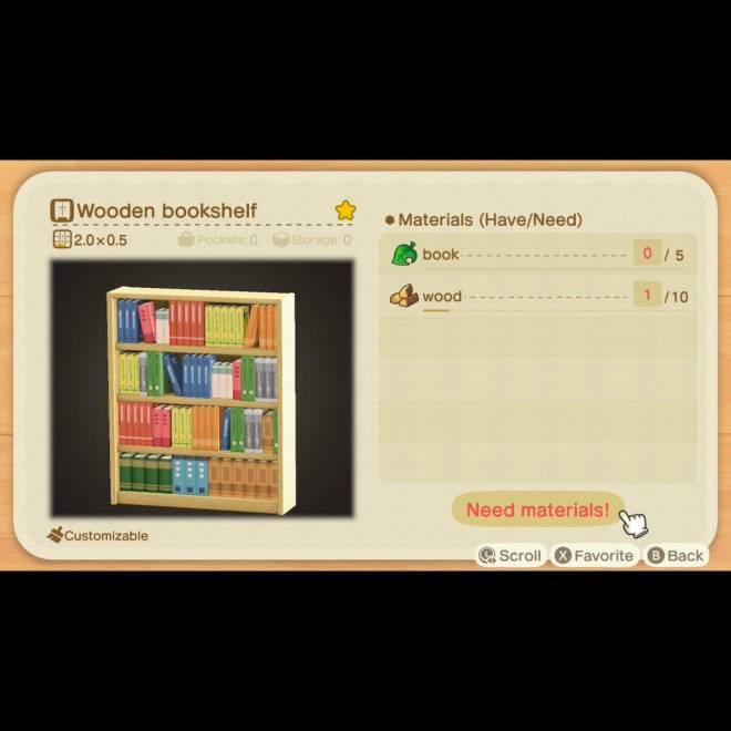 Animal Crossing: Trading - Bookshelf diy image 2