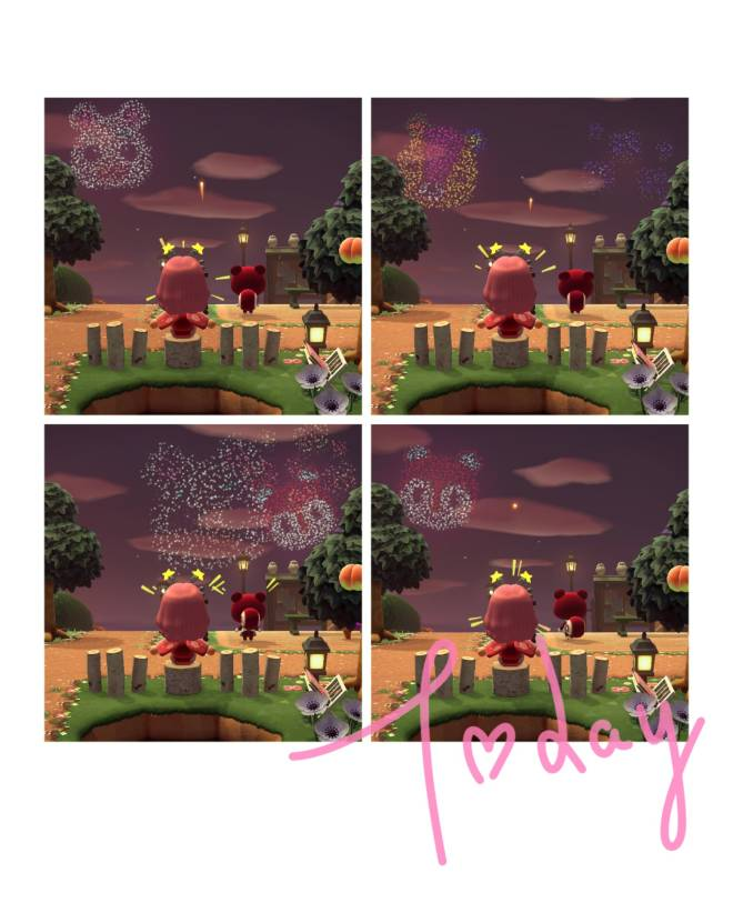 Animal Crossing: Posts - Fireworks show image 2