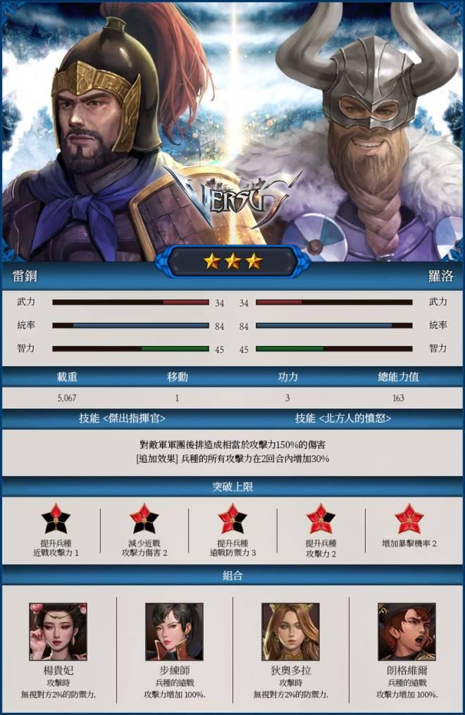 VERSUS : REALM WAR [TW]: Update Notice - 【更新】8月7日新將帥登場! image 5