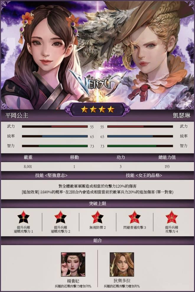 VERSUS : REALM WAR [TW]: Update Notice - 【更新】8月7日新將帥登場! image 4