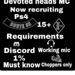 Im recruiting for my mc devoted heads
