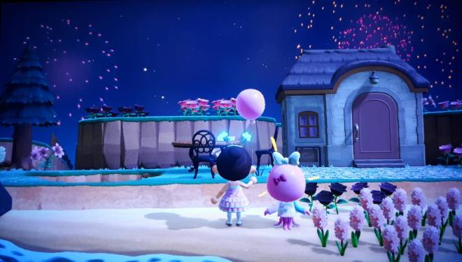 Animal Crossing: Posts - Watching the fireworks with Marina 🎈✨ image 1