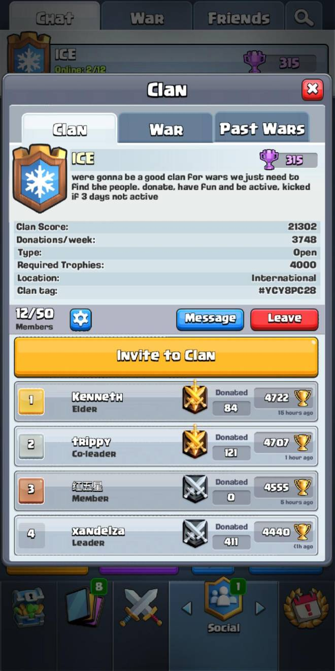 Clash Royale: Recruiting - Join n be active image 3