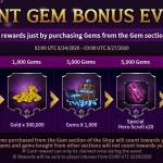 Giant Gem Bonus Event Returns!