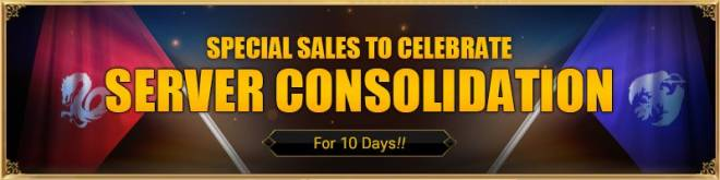 VERSUS : REALM WAR: In-Game Event - Special Sales Event to Celebrate the Server Consolidation image 1