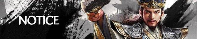 Three Kingdoms RESIZING: Notice - 9/3 Maintenance Break Over image 1