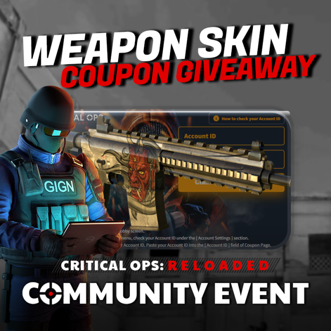 ENG Critical Ops: Reloaded: Event - [Community Event #4] Oni Demon Giveaway! image 1