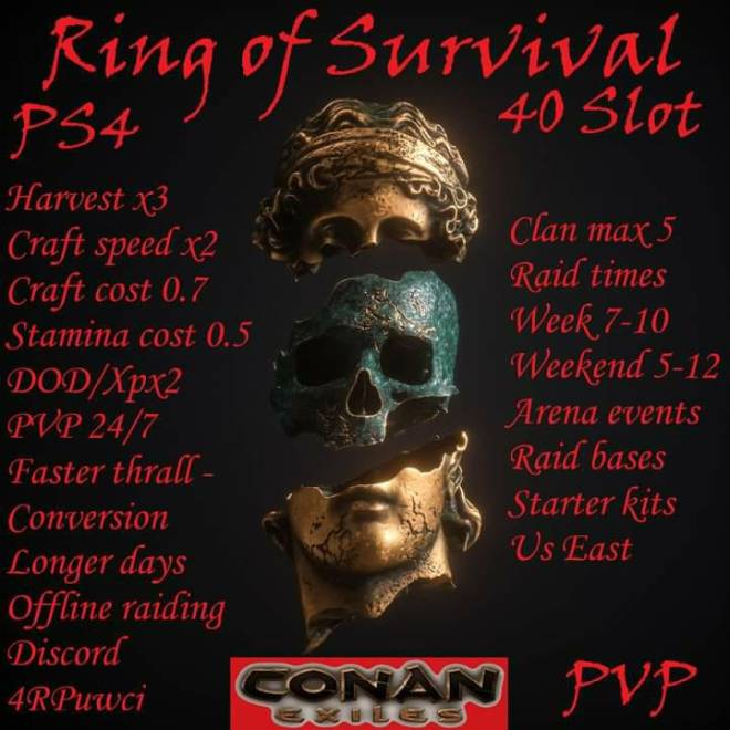 Conan Exiles: General - Will be a 40 slot server by tomorrow!     https://discord.gg/4RPUwcj image 1