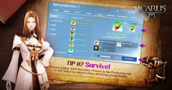 Icarus M: Riders of Icarus: Guide - Tip #1 : Survive! image 1