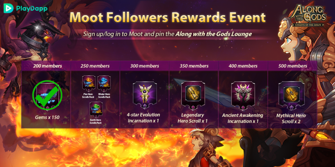 Along with the Gods: Knights of the Dawn: Events - Google Play Launch Events Progress Update image 3