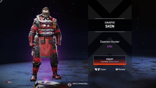 "Apex Legends: General - 2nd epic - ""Daemon Hunter"" - Caustic skin image 1"