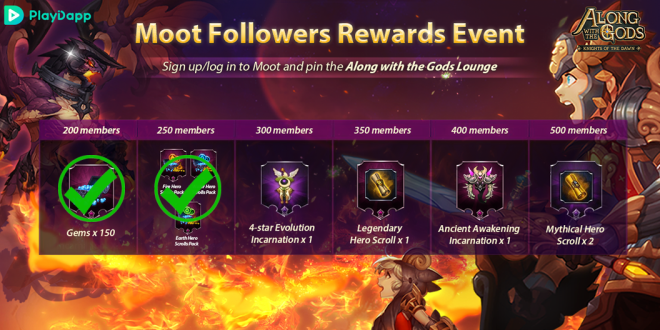 Along with the Gods: Knights of the Dawn: Events - Google Play Launch Events Progress Update 2 image 3