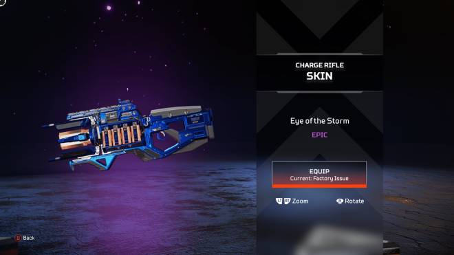 "Apex Legends: General - 1st epic - ""Eye of the Storm"" - Charge Rifle image 1"