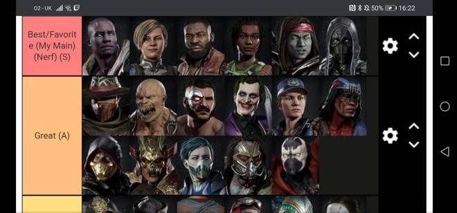 Mortal Kombat: General - My Mk11 teir list image 2