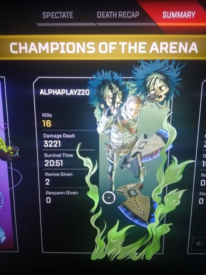 Apex Legends: General - Gg 3k on Wraith  image 1