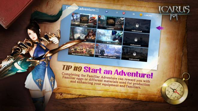 Icarus M: Riders of Icarus: Guide - Tip #9 Start an Adventure image 1